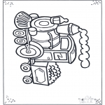 Coloriages faits divers - Locomotive 2