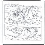 Coloriages d'animaux - Loutre
