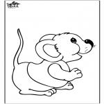 Coloriages d'animaux - ls souris 2