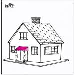 Coloriages faits divers - Maison 5