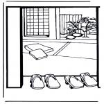 Coloriages faits divers - Maison japonnaise