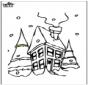 Maison sous la neige 2