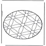 Bricolage cartes de piquer - mandala 1
