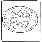 Bricolage cartes de piquer - Mandala 2
