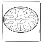 Bricolage cartes de piquer - Mandala 25