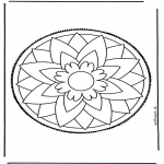 Bricolage cartes de piquer - Mandala 3