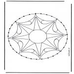 Bricolage cartes de broder - Mandala 33