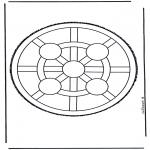Bricolage cartes de piquer - Mandala 4