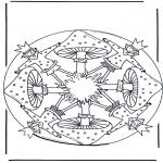 Coloriages faits divers - Mandala champignon  1