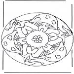 Coloriages faits divers - Mandala champignon 2