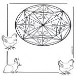 Mandala - Mandala de coeur 1
