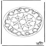 Mandala - Mandala de coeur 5
