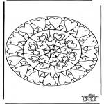 Mandala - Mandala de coeur 6