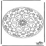 Mandala - Mandala de coeur 7