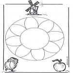 Mandala - Mandala de fleurs 1
