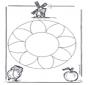 Mandala de fleurs 1