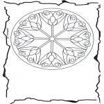 Mandala - Mandala de fleurs 3