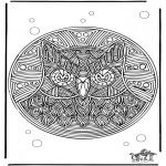 Mandala - Mandala hibou