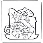Coloriages Bible - Marie et Jésus 2