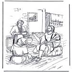 Coloriages Bible - Marie et Marthe 1
