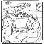 Coloriages Bible - Marie et Marthe 2