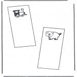 Bricolage coloriages - Marque-page 1
