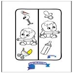 Bricolage coloriages - Marque-page - bébé
