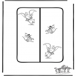 Personnages de bande dessinée - Marque-page Dumbo