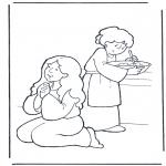 Coloriages Bible - Marthe et Marie