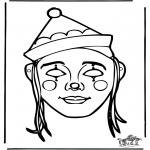 Bricolage coloriages - Masque 10