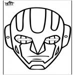 Bricolage coloriages - Masque 15