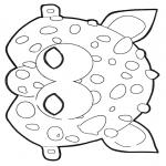 Bricolage coloriages - Masque 2