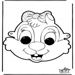 Bricolage coloriages - Masque 9