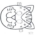 Bricolage coloriages - Masque de chat