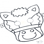 Bricolage coloriages - Masque de cheval