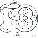 Bricolage coloriages - Masque de chien