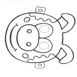 Bricolage coloriages - Masque de cochon