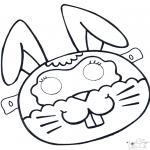 Bricolage coloriages - Masque de lapin