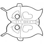 Bricolage coloriages - Masque de papillon