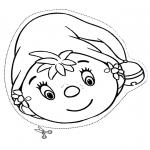 Bricolage coloriages - Masque de petit elfe