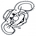 Bricolage coloriages - Masque de souris