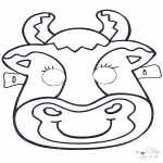 Bricolage coloriages - Masque de vach 2
