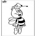 Coloriages faits divers - Maya l'abeille 4