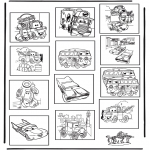 Bricolage coloriages - Memory Cars
