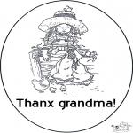 Coloriage thème - Merci grand-mère