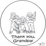 Coloriage thème - Merci grand-père