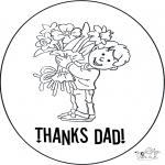 Coloriage thème - Merci papa 2