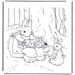 Coloriages faits divers - Mère Lapin 2