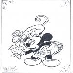 Personnages de bande dessinée - Mickey Mouse et le singe
