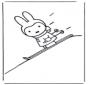 Miffy fait du ski